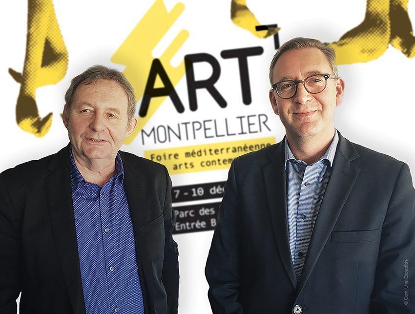 Didier Vesse (directeur artistique de la manifestation) et Cédric Fiolet (directeur de Montpellier Events)
